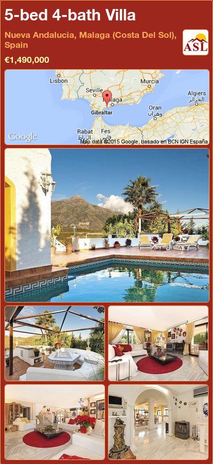5-bed 4-bath Villa in Nueva Andalucia, Malaga (Costa Del Sol), Spain ►€1,490,000 #PropertyForSaleInSpain