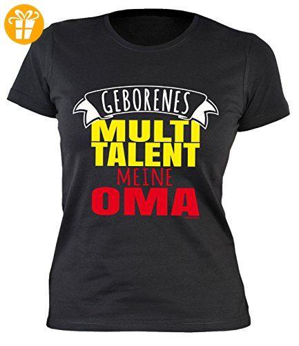 Oma Sprüche Damenshirt - lustige Sprüche Großmutter : Geborenes Multitalent meine Oma -- Damen Tshirt Geburtstag / Muttertag Großmutter Gr: L (*Partner-Link)