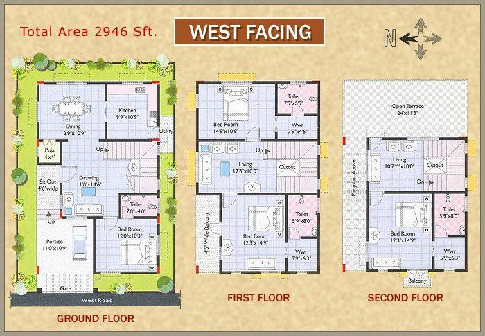 4df5fc93c0914075858c3d9a07fee46d Jpg 700 485 West Facing House House Plans Indian House Plans