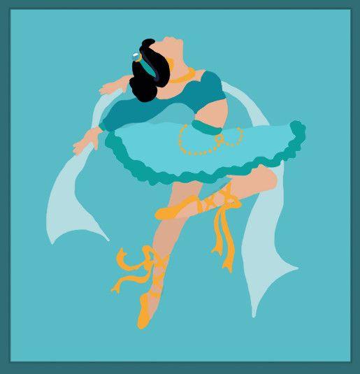Disney Ballerina: Jasmine by ~middleR3DD on deviantART