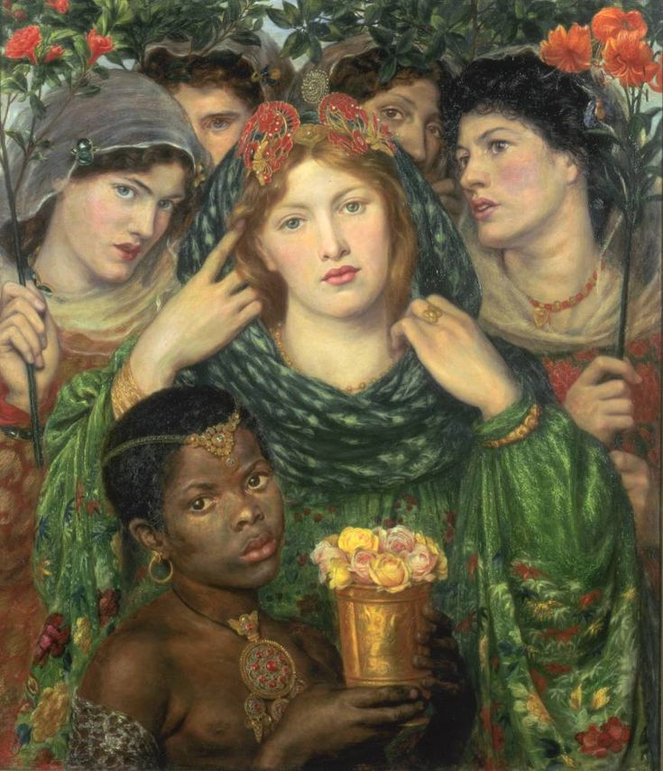 "By Dante Gabriel Rossetti, ""The Beloved"" (""The Bride""), 1865-6,  oil on canvas"