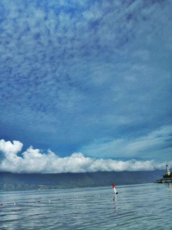 Sky, mountain, lake from medan, Indonesia