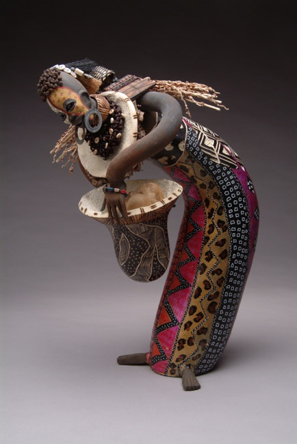 Blessed Harvest Gourd Sculpture by Patricia Boyd