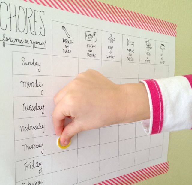 This printable chore chart is yours for the taking. Directions are below!