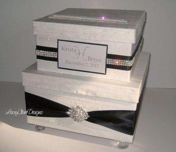 Wedding Card Box Bling Card Box Rhinestone Money Card Holder – Bling Wedding Card Box