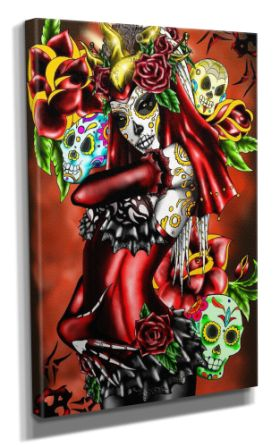 Day Of The Dead :: Day Of The Dead Canvas - Design 2 50x70CM
