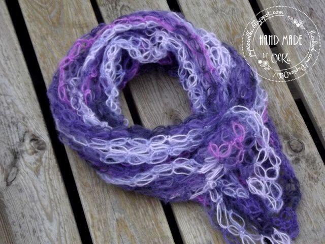 Crochet shawl from Salomon knots. Szydełkowa chusta z węzłów Salomona