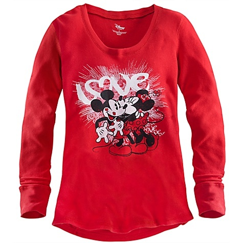 Love can help keep you warm.: Tees, Mice, Disney Minnie, Mickey Mouse, Thermal Tee, Minnie Mouse, For Women, Mouse Thermal, Top
