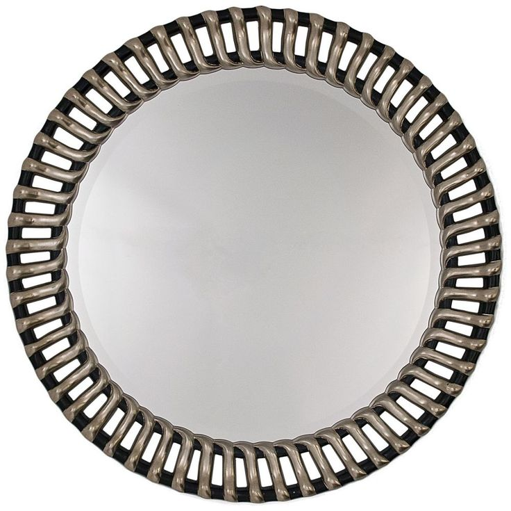 RV Astley Round Mirror - Antique Silver