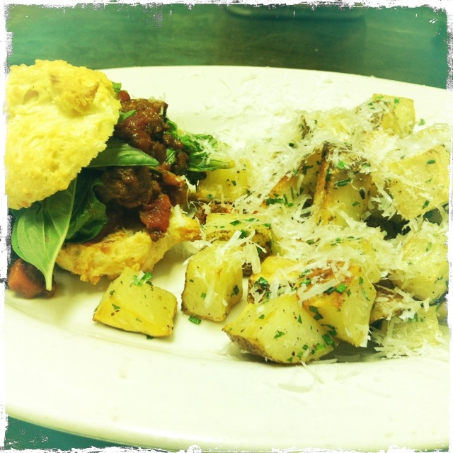 Cheddar Biscuit Sloppy Joe - On our Brunch Menu 12-3 @ The Gray House Minneapolis