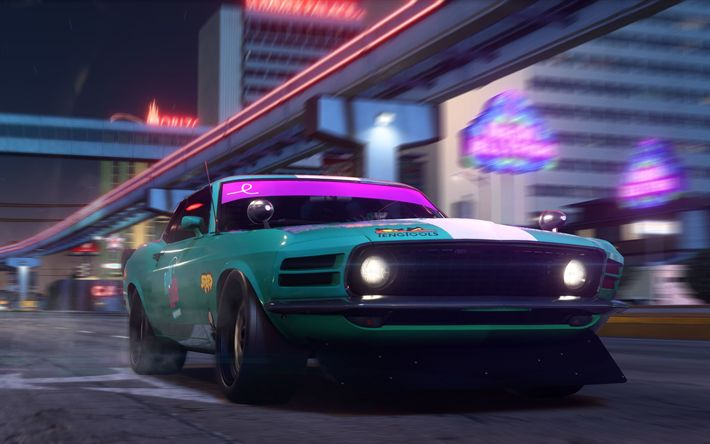 Download wallpapers 4k, Riot Club, Need For Speed Payback, Chevrolet Camaro SS, 2017 games, road, autosimulator, NFS