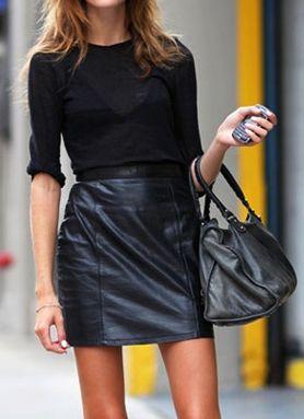 black leather skirt                                                                                                                                                                                 Plus