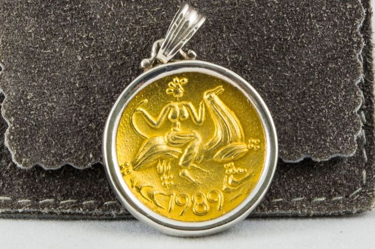 ILIAS LALAOUNIS New Years Lucky Charm Pendant Gold 18K & Sterling Silver .925 #ILIASLALAOUNIS #Pendant