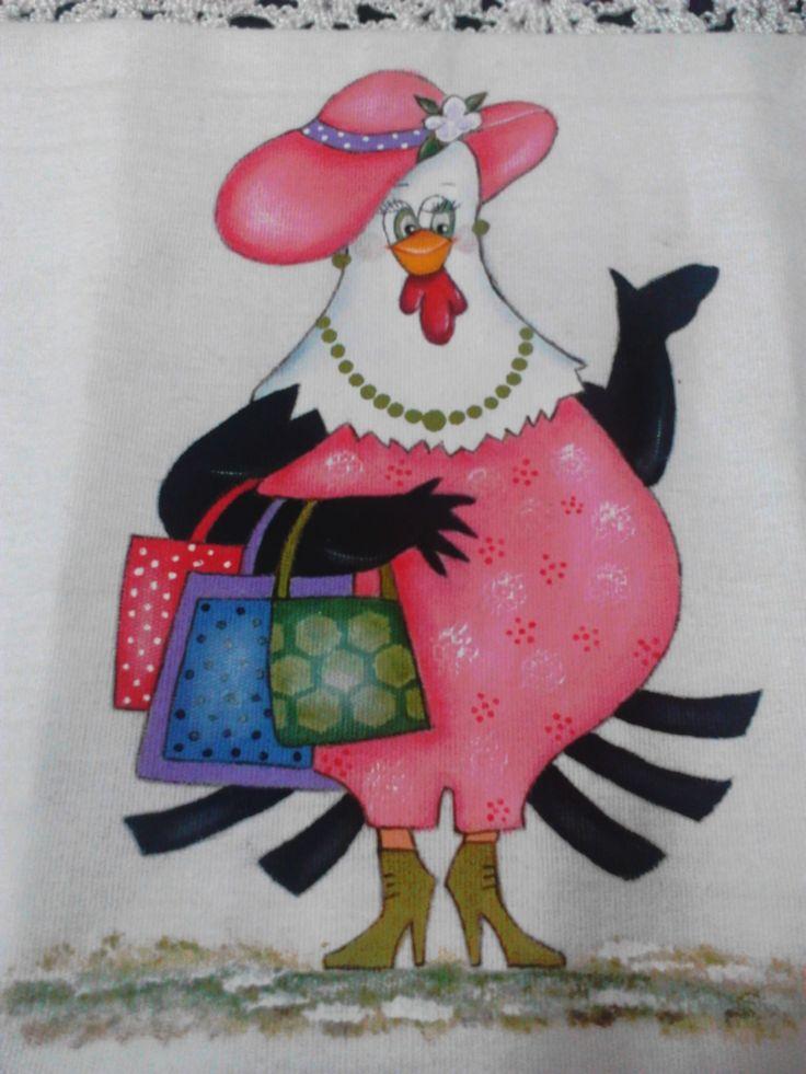 pintura galinha