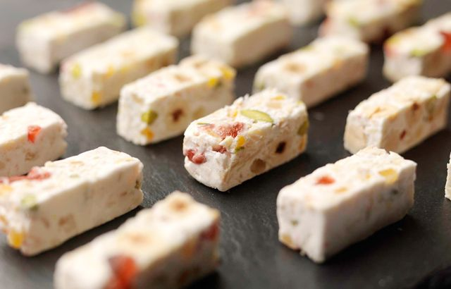 where to buy rice paper for nougat My dad used to buy it for my mum in the eighties it was in a light blue oblong box and each peice of nougat was wrapped individually in silver paper the nougat had cherries and nuts and was covered in rice paper i have searched a few websites for it but to no avail can you help.
