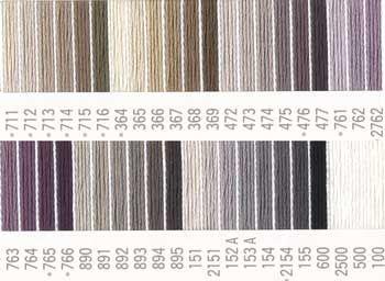 コスモ刺しゅう糸 25番 黒・白色系 ルシアン刺繍糸