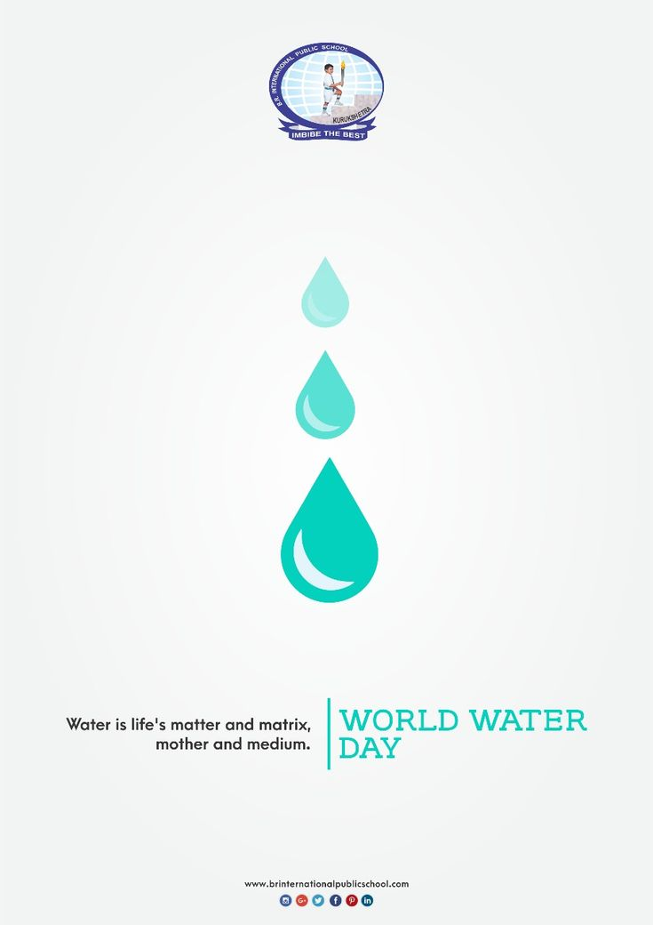 Water is life's matter and matrix, mother and medium.   #BRInternationalPublicSchool #CBSE #Kurukshetra #School #Education #SaveWater #WorldWaterDay  #ConserveWater