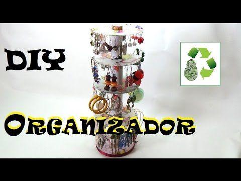 COLLAR, PULSERA Y ARETES CON CD RECICLADOS 1a. parte - YouTube