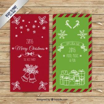 Рукописные рождественские баннеры