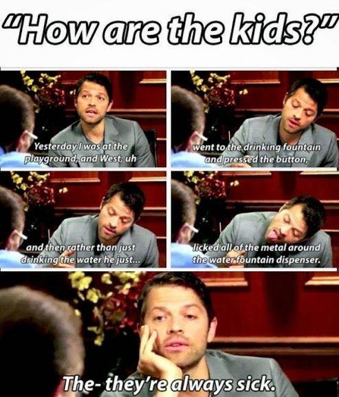 Misha on his kids.