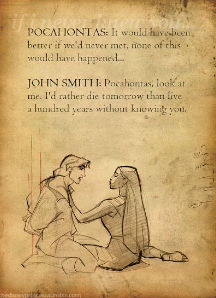 Pocahontas and John Smith #Disney