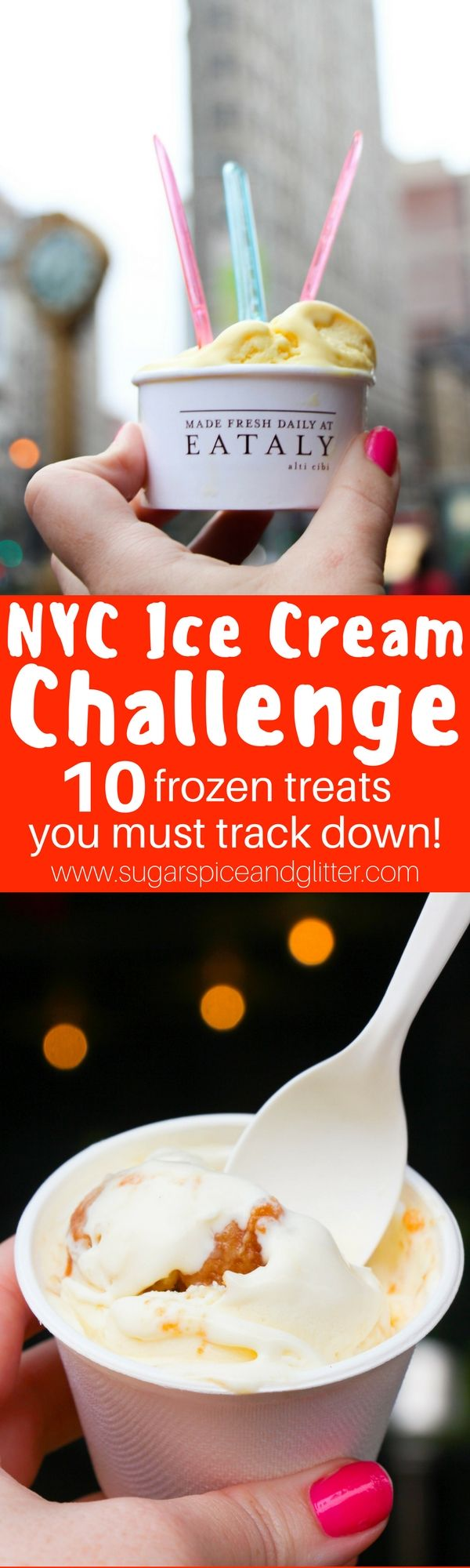 "NYC Ice Cream Tour (Self-Guided) - 10 frozen treats you must eat and 7 other ""extra credit"" options. Frozen hot chocolate, rolled ice cream, and more!"