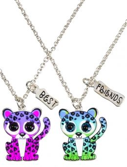 Jusice jewelry for girls | Bff Cheetah Necklaces | Girls Necklaces Jewelry | Shop Justice