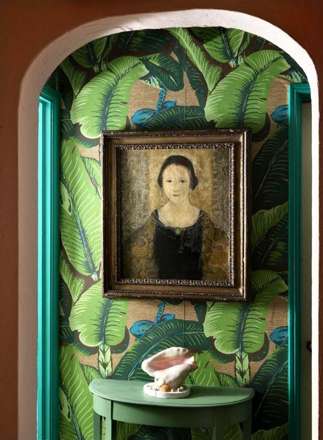 DramaDe Biasi, Palms Wallpapers, Green, Interiors, Frank De, Portraits, Bananas Leaves, Leaf Wallpapers, Frames Art