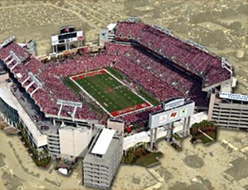 Game was fun last night ... club ftw ..... Raymond James Stadium, Tampa, Florida