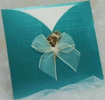 Turquoise Wedding Invitation
