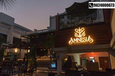 #AmnesiaSheeshalounge: A space that is magical at night. Address: Aarya Grand Hotels and Resorts Kargil Petrol Pump lane Near Gujarat High Court Sola, Ahmedabad Contact : 7284000631 #Cafe #Hotel #Resort #SheeshaLounge #CityShorAhmedabad