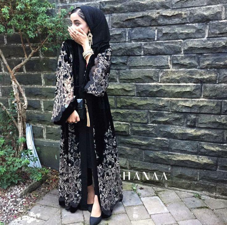 Laylah Velvet Open Abaya More