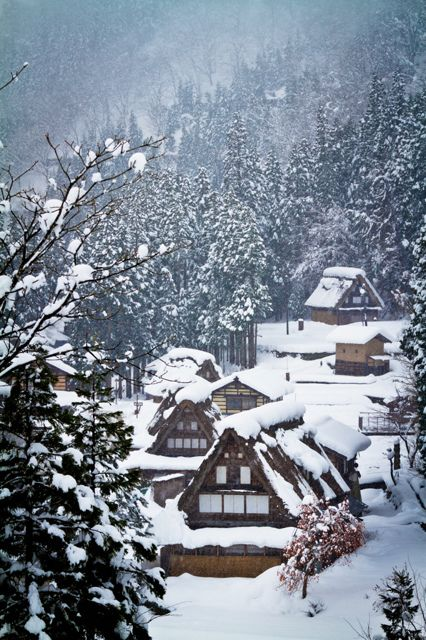 Winter in Historic Villages of Ainokura in Gokayama, Toyama, Japan