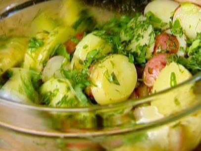 French Potato Salad: Made this tonight... The perfect warm potato salad. No mayo, just fresh herbs, vinegar and mustard. Perfect in every way.