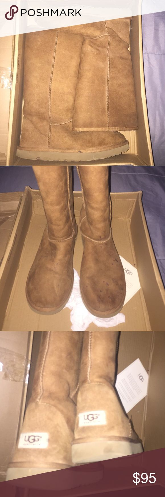 Size 11 Women's Uggs Used for about two winters. Shows some spots. Pics are from all ankles. Has wear obviously. UGG Shoes Winter & Rain Boots