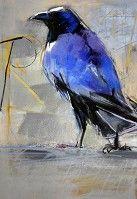 "Gorgeous Indigo Raven!!  ""Time Keeper"" by Dawn Emerson"