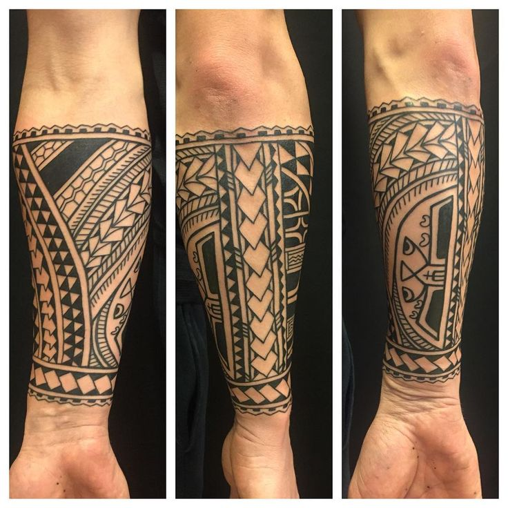 Other views of Jurians forearm tattoo #polynesiantribal #tribaltattoocollective…