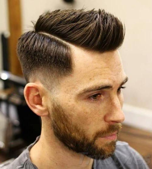 02 Short Pompadour With Choppy Side Part Use Wax To Style