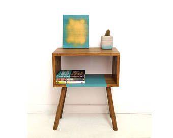 Muebles modernos mediados de siglo, mediados siglo Mesita mesa escandinava, mediados siglo Nightstand, mesa de centro, madera sólida