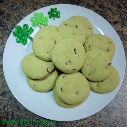 Shamrock Mint Chocolate Chip Cookies