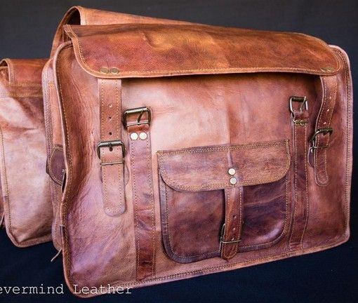 This vintage saddle bag will hand over your bicycle or motorbike and will fit everything in the two bags. Go on holiday but purchase this bag from Aussies products online store.