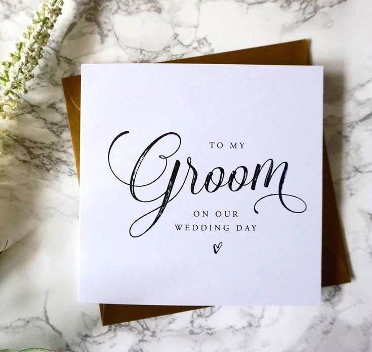 Pen A Special Pre Wedding Message To Your New Husband With This Simply Styled
