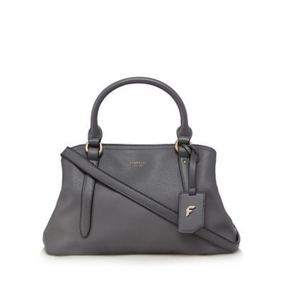 Fiorelli Grey 'Primrose' triple compartment grab bag |  Debenhams  This would look great with the navy coat but not so much the moss green.