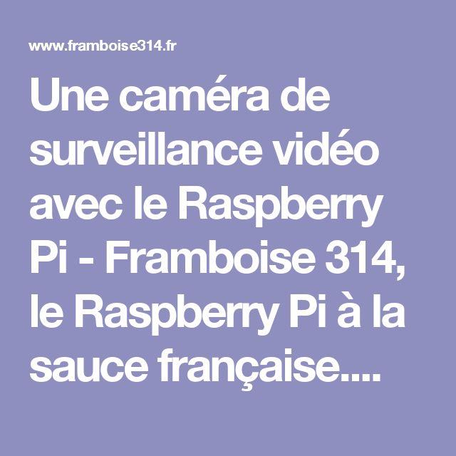 Une caméra de surveillance vidéo avec le Raspberry Pi - Framboise 314, le Raspberry Pi à la sauce française....