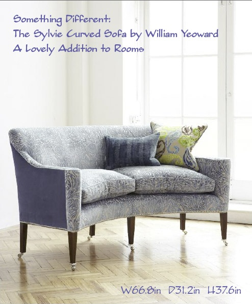 William Yeoward Furniture Collection Sylvie Curved Sofa
