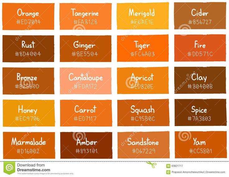 Shades Of Orange Names die besten 25+ orange color code ideen auf pinterest | schöne