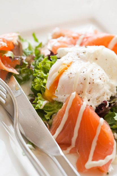 fresh salmon & poached egg