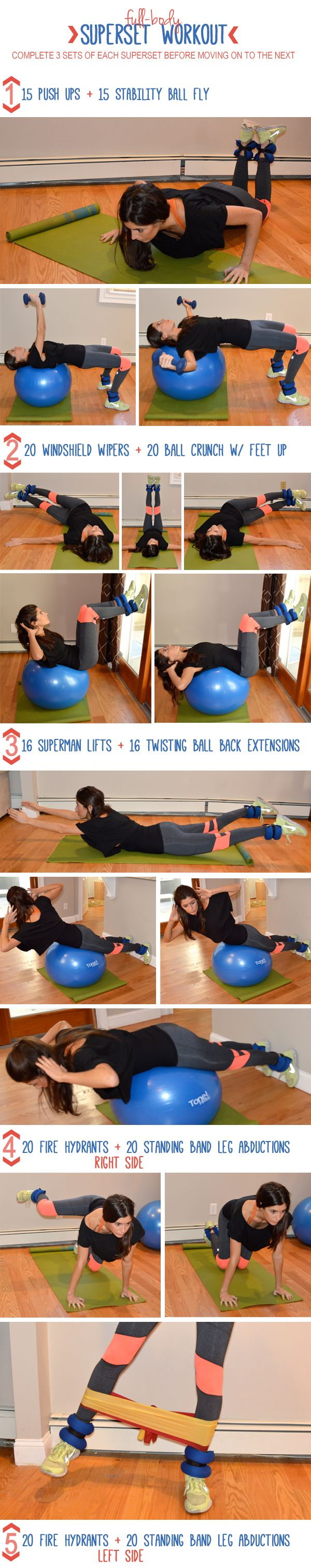 126 Best Exercise Images On Pinterest Workouts Chest And Back Superset Circuit Workout Tone Tighten Full Body