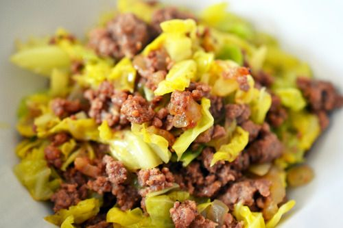 Whole30 Day 29: Garbage Stir-Fry with Curried Cabbage | Award-Winning Paleo Recipes | Nom Nom Paleo -- I made this tonight. Ground beef, onion, subbed in adobo for the curry. Yumm, fast, and everybody can eat it. Plus... ONE pan!