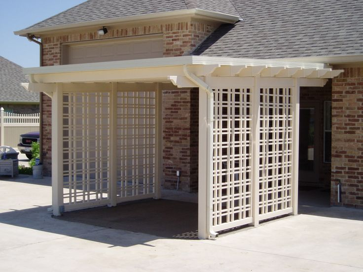 We Can Build You A Vinyl Trellis On The Side Of Your Shade Structure Or  Patio